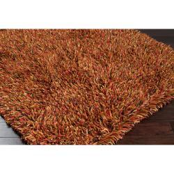 Hand-woven Orange Bombo New Zealand Wool Rug (8' x 10')