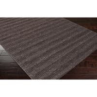 Hand-crafted Solid Brown Baham Wool Area Rug - 8' x 10'
