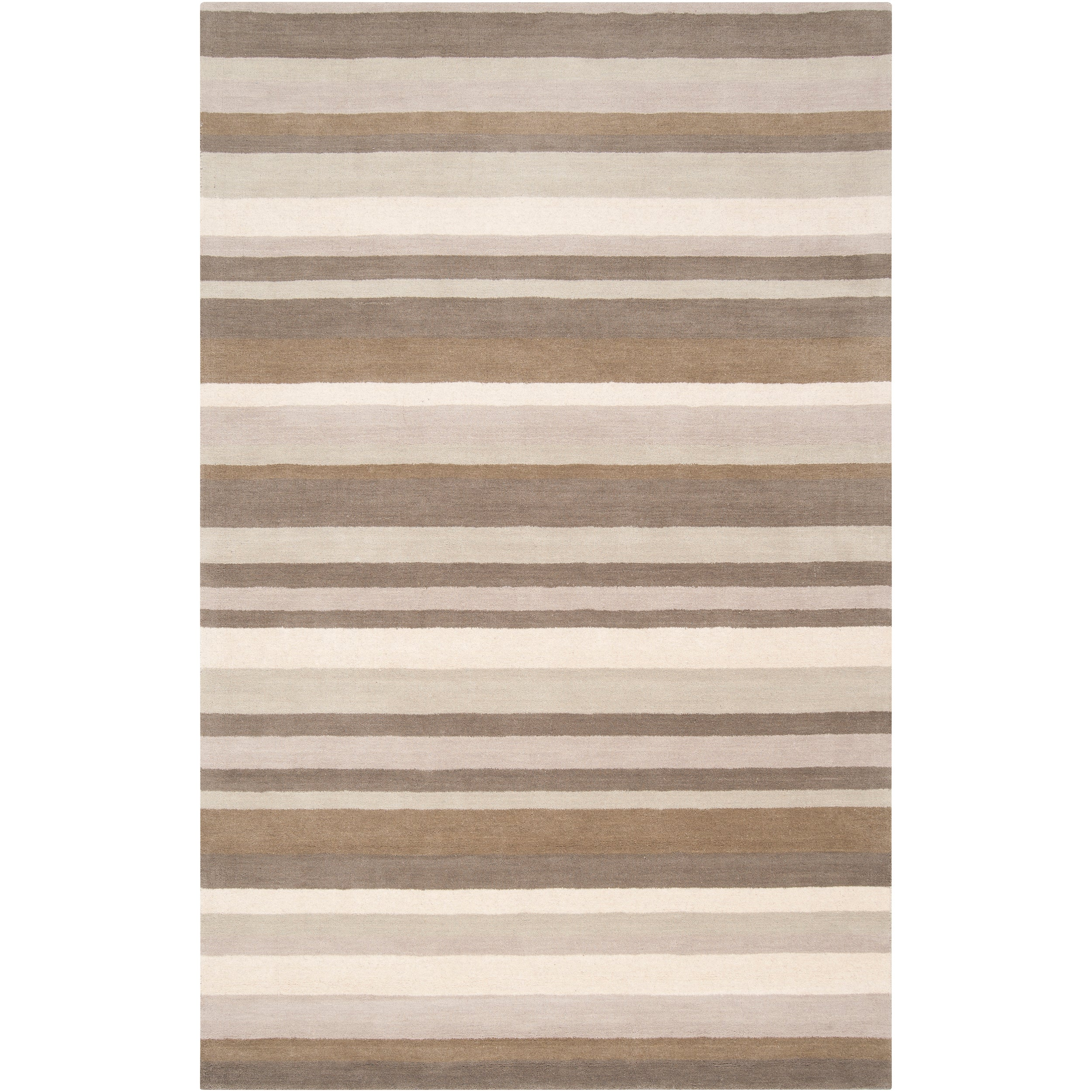 Loomed Grey Madison Square Wool Area Rug (8' x 10')