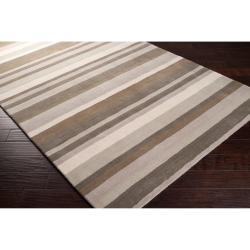 Loomed Grey Madison Square Wool Area Rug (8' x 10') - Thumbnail 1