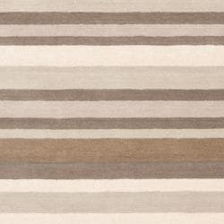 Loomed Grey Madison Square Wool Area Rug (8' x 10') - Thumbnail 2