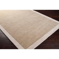 Loomed Tan Madison Square Wool Rug (8' x 10')