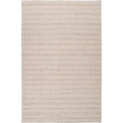Hand-crafted Solid Grey Baham Wool Area Rug (5' x 8') - Thumbnail 0