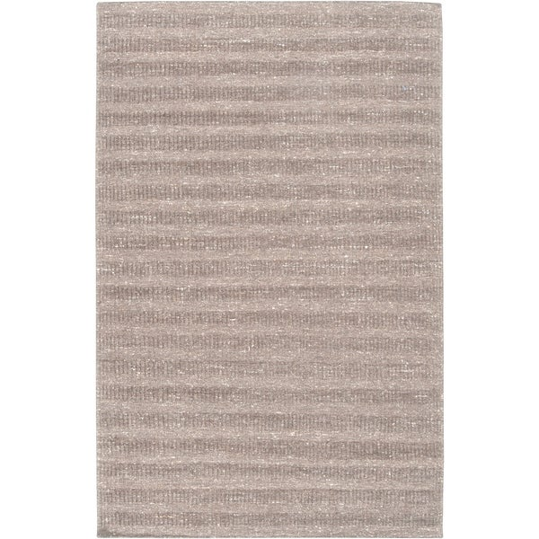 Hand-crafted Solid Grey Baham Wool Area Rug - 8' x 10'