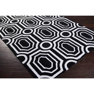 Hand-tufted Black Hudson Park Polyester Rug (8' x 10')