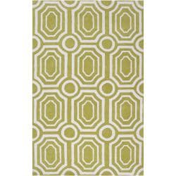 Hand-tufted Green Hudson Park Polyester Rug (2' x 3')
