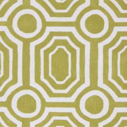 Hand-tufted Green Hudson Park Polyester Rug (5' x 7'6)