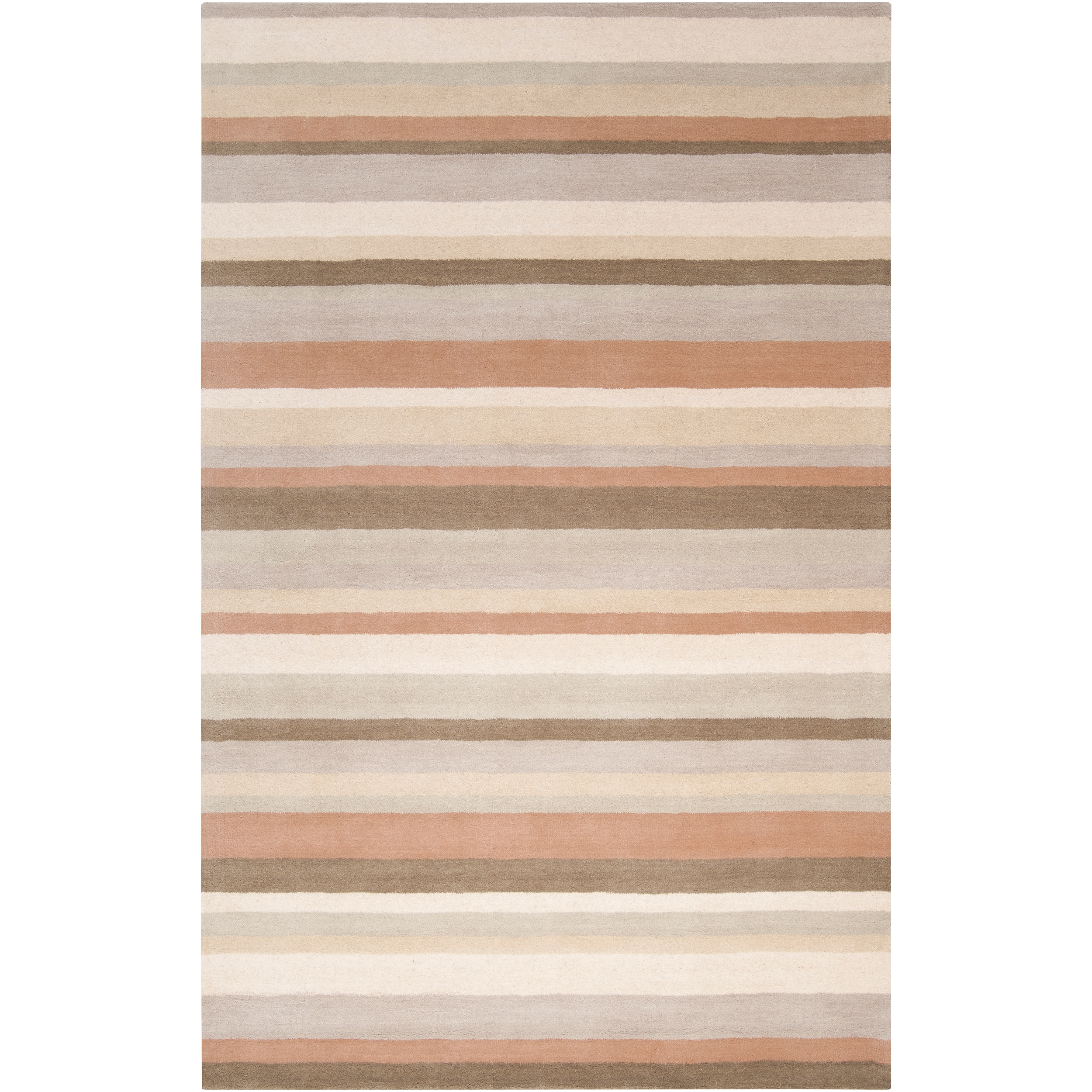 angelo:HOME Loomed Light Grey Madison Square Wool Rug (2' x 3')