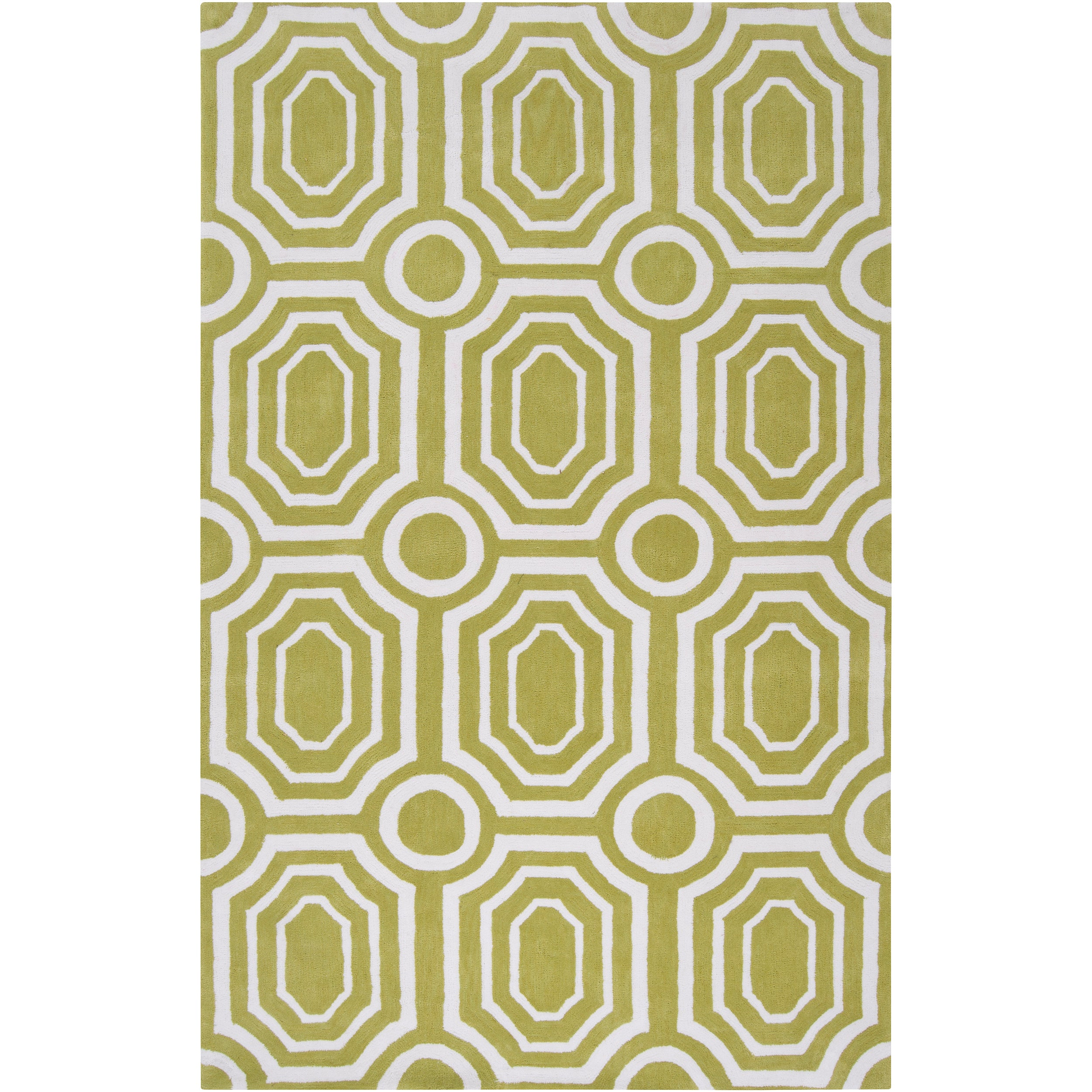 Hand-tufted Green Hudson Park Area Rug (8' x 10')