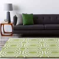 Hand-tufted Green Hudson Park Area Rug - 8' x 10'