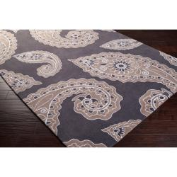 angelo:HOME Hand-tufted Grey Hudson Park Polyester Rug (5' x 7'6) - Thumbnail 1