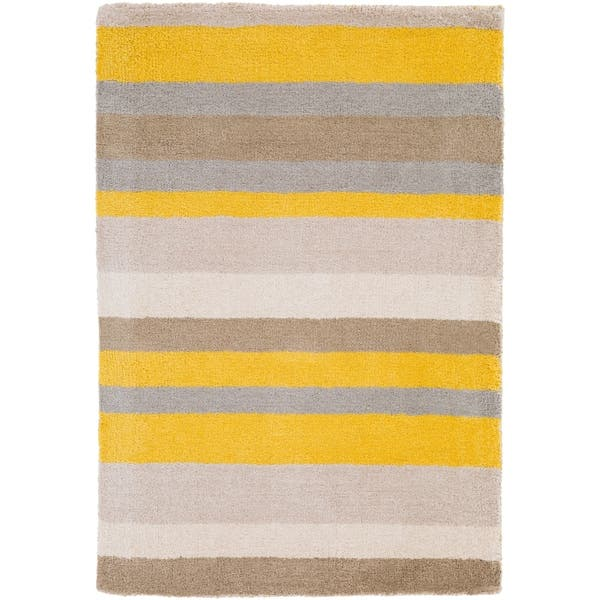 Loomed Yellow Madison Square Wool Area Rug 3 3 X 5 3 Overstock 6707107