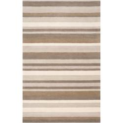 Loomed Grey Madison Square Wool Rug (2' x 3')