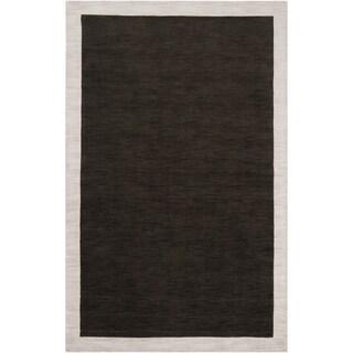 Loomed Black Madison Square Wool Area Rug - 8' x 10'