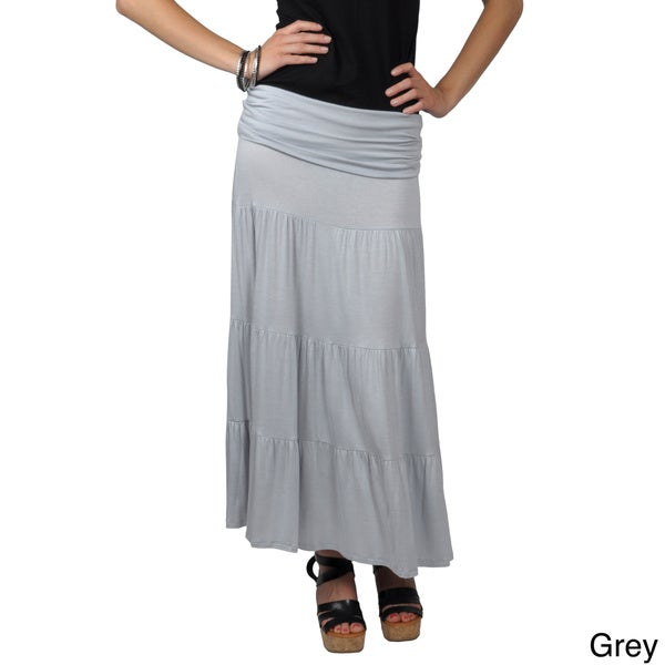 Journee Collection Juniors Long Tiered Skirt-Dress
