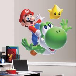 RoomMates Nintendo Mario Yoshi Peel and Stick Giant Wall Decal