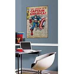 RoomMates Captain America Peel and Stick Comic Cover Decal