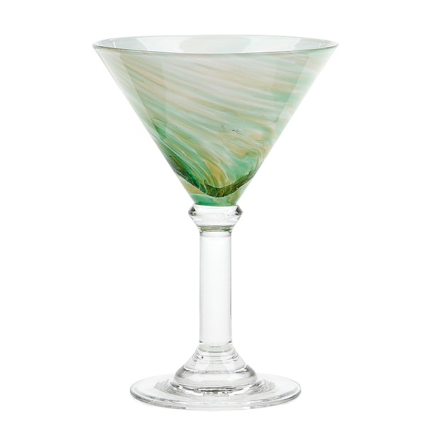IMPULSE! Galaxy Green Martini Glasses (Set of 6)