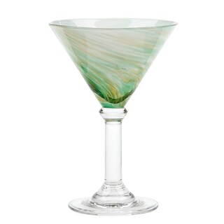 IMPULSE! Galaxy Green Martini Glasses (Set of 6)