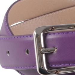 Journee Collection Women's Clamp Buckle Feather Edge Adjustable Belt - Thumbnail 2