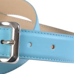 Journee Collection Women's Clamp Buckle Feather Edge Stylish Belt