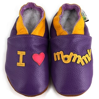 I Love Mommy Soft Sole Leather Baby Shoes (2 options available)