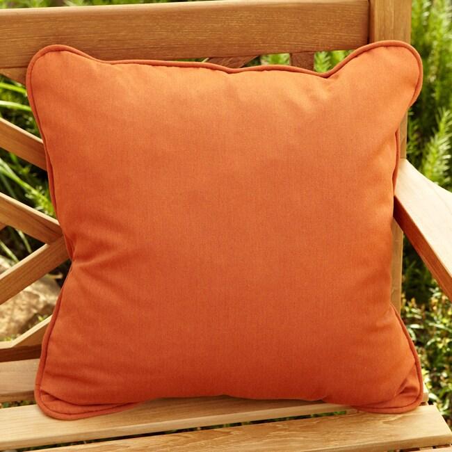 Clara Rust Indoor/ outdoor 22-inch Square Outdoor Sunbrella Pillow (Set of 2)