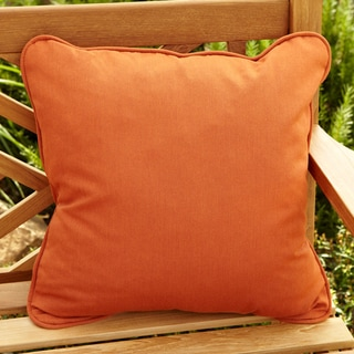 Clara Rust Indoor/ outdoor 22-inch Square Outdoor Sunbrella Pillow (Set of 2)