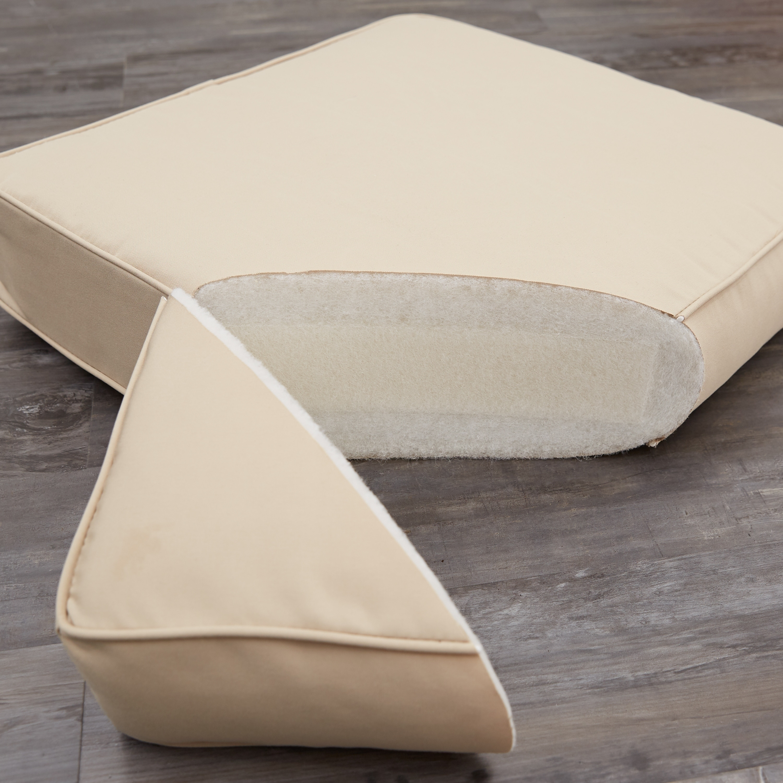 Clara Beige Rust 19 Inch Square Outdoor Sunbrella Chair Cushion On Sale Overstock 6707228