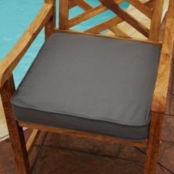 Superbe Clara Grey 19 Inch Square Outdoor Sunbrella Chair Cushion