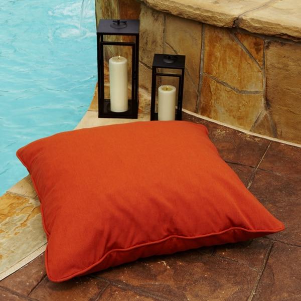 Clara Indoor Outdoor 26 Inch Square Sunbrella Floor Pillow