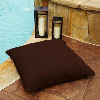 Clara Brown 26-inch Square Indoor/ Outdoor Sunbrella Floor Pillow