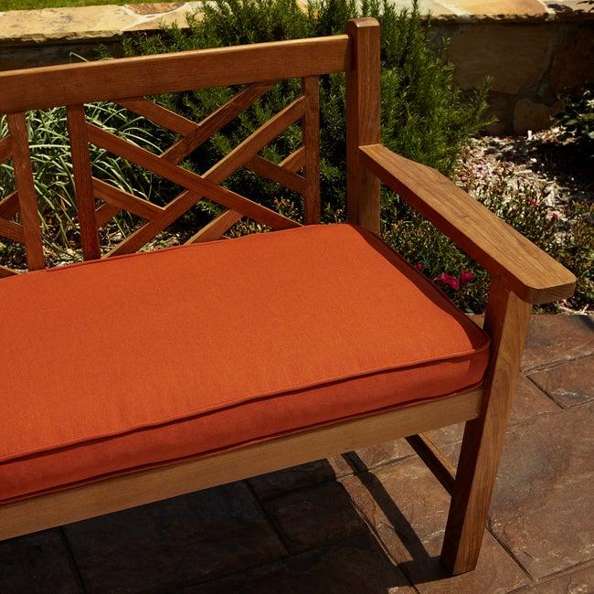 Clara Rust Indoor/ outdoor 48-inch Sunbrella Bench Cushion