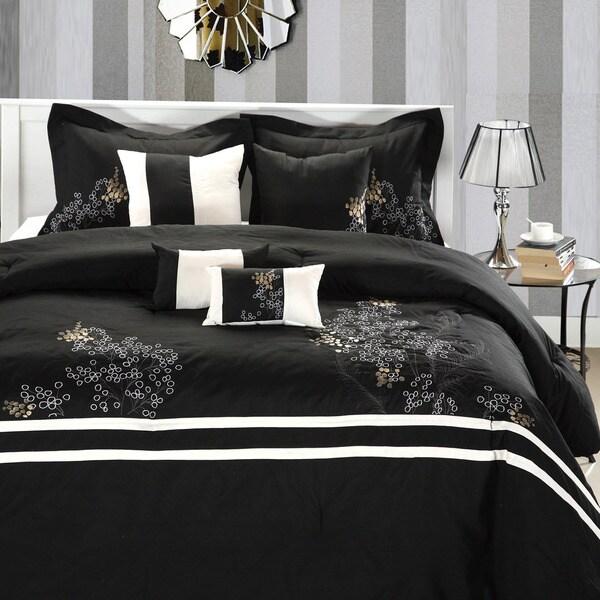Park Avenue Black/white 8-piece Comforter Set