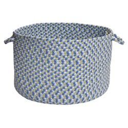 Pinwheel Blue Colored Basket