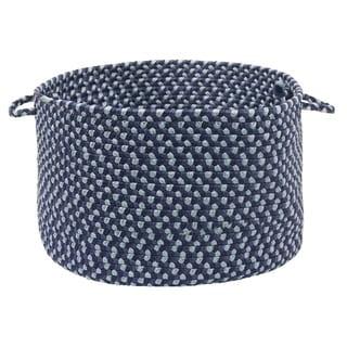 """Color Market Blue Colored Basket - 18""""d x 12""""h"""