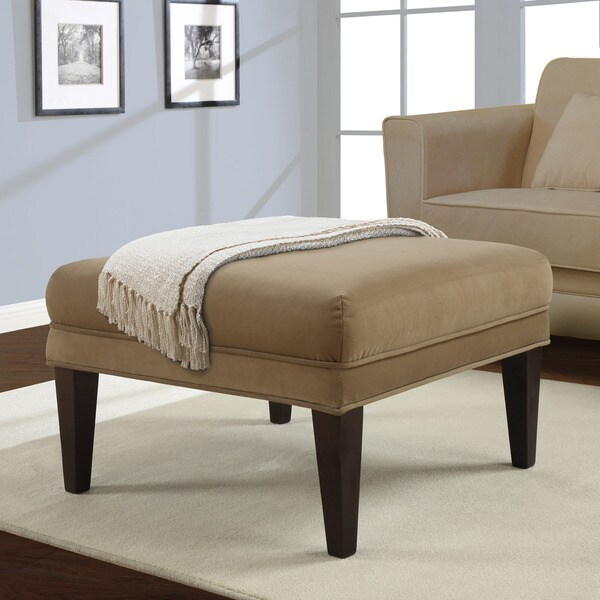 Flat Top Brown Sugar Square Ottoman