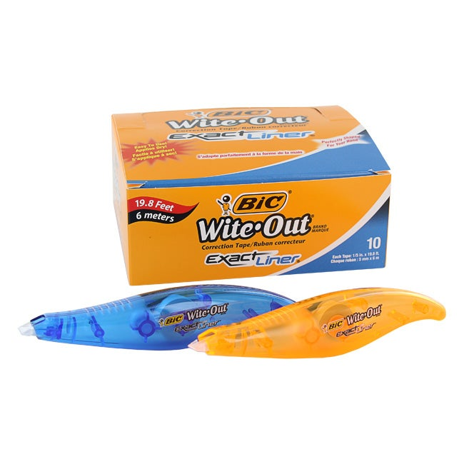 Bic Wite-Out Exact Liner Correction Tape Pen (Pack of 10)