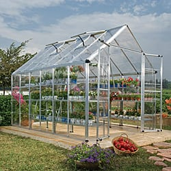 Palram Silver Snap and Grow 8ft. x 12ft. Greenhouse|https://ak1.ostkcdn.com/images/products/6707440/Palram-Silver-Snap-and-Grow-Greenhouse-8-x-12-P14258635.jpg?impolicy=medium
