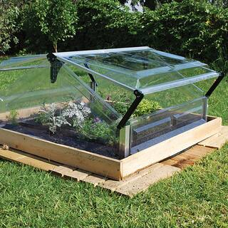 Palram Cold Frame Double 3ft. x 3ft. Mini Greenhouse|https://ak1.ostkcdn.com/images/products/6707447/P14258639.jpg?impolicy=medium