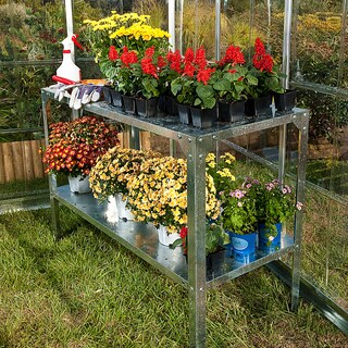 Palram Galvanized Steel Free-standing Greenhouse Work Bench