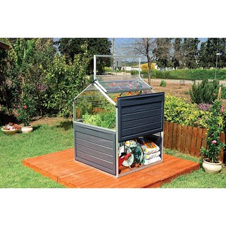 Link to Palram Plant Inn 4ft. x 4ft. Urban Vegetable Garden Greenhouse Similar Items in Yard Care