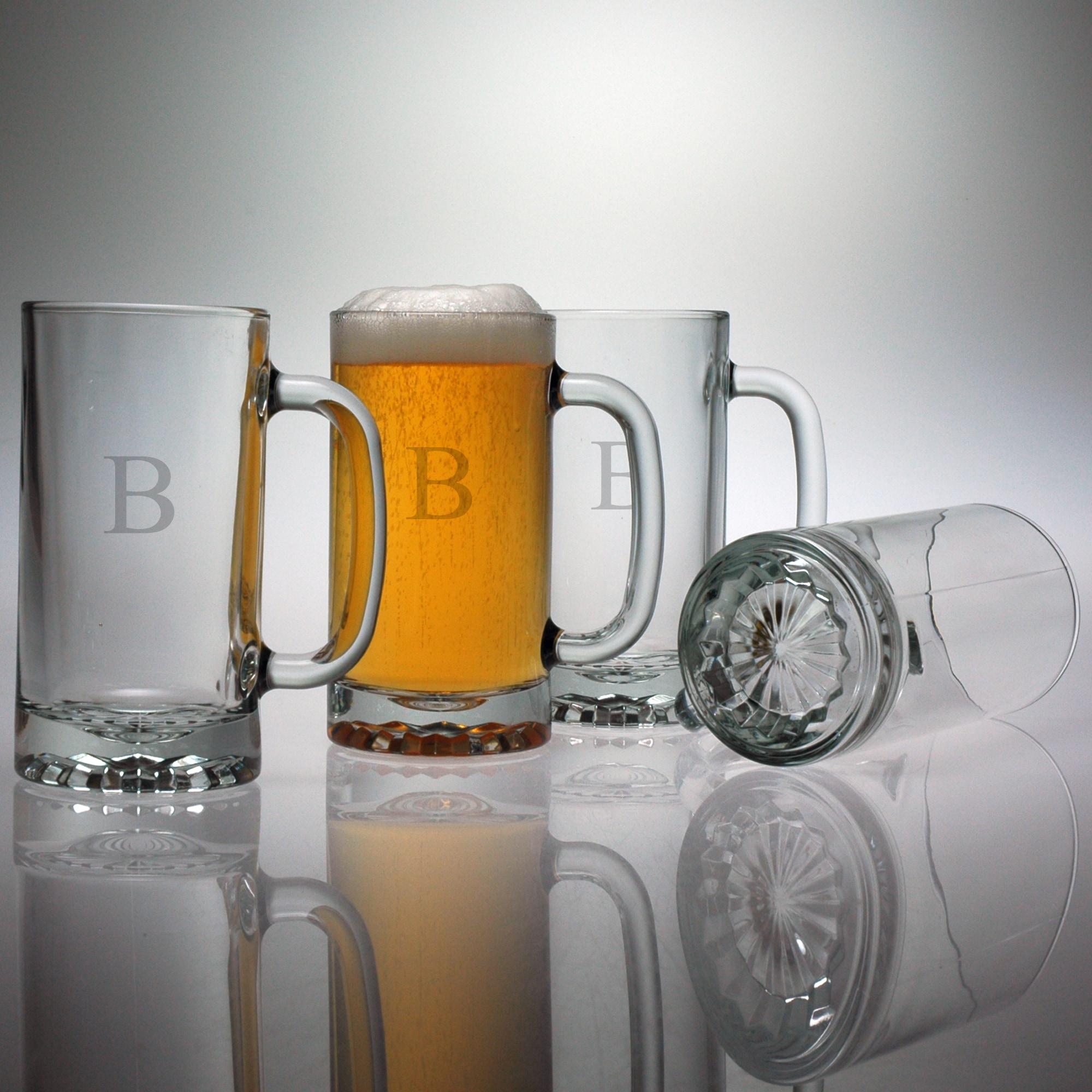 Susquehanna Glass Personalized Pub Beer Mugs (Set of 4) (...