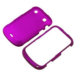 INSTEN Purple Rubber Coated Phone Case Cover for Blackberry Bold 9900/ 9930 - Thumbnail 1
