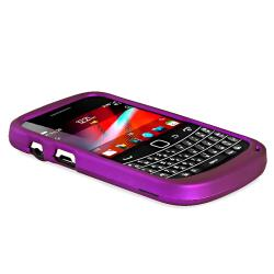 INSTEN Purple Rubber Coated Phone Case Cover for Blackberry Bold 9900/ 9930 - Thumbnail 2