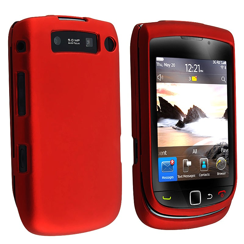 BasAcc Wine Red Snap-on Rubber Coated Case for Blackberry Torch 9800