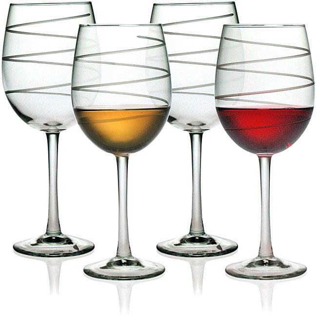 Spiral Collection Wine Glasses (Set of 4)