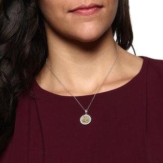 La Preciosa Sterling Silver Druzy and Cubic Zirconia Necklace (2 options available)