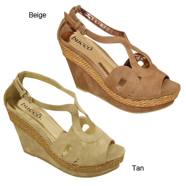 a86158f8deb Shop Bucco Women s  Irus  Faux Suede Wedges - Free Shipping On Orders Over   45 - Overstock - 6708331