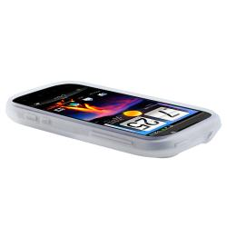 INSTEN Clear White Silicone Skin Case Cover for HTC Amaze 4G